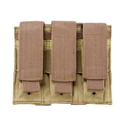 Triple Pistol Magazine Pouch: Black, Tan, Green, Urban Gray & Digital
