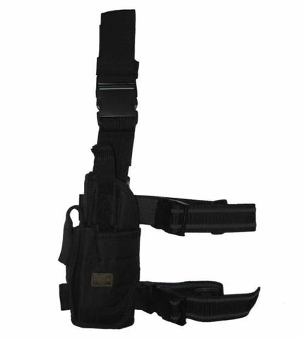 Adjustable Leg Holster LEFT Handed :  Black