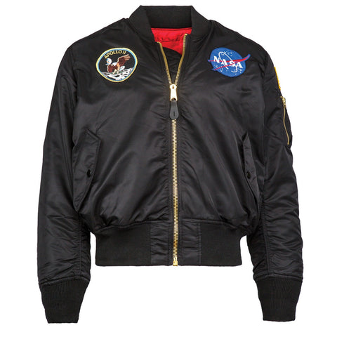 Alpha Industries Apollo MA-1 Flight Jacket - Black