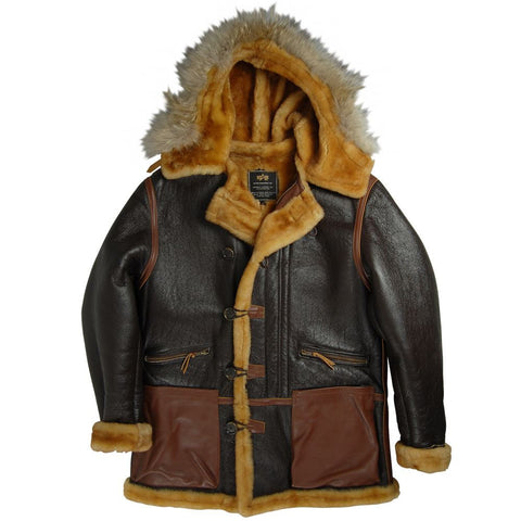 Alpha Industries B-7 Vintage Sheepskin Parka  FREE SHIPPING!