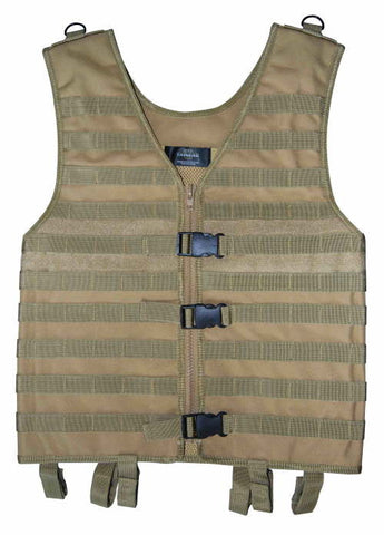 Web System Tactical Vest MOLLE in Tan or Black