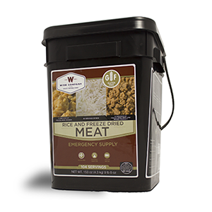 Gluten Free 104 Serving Gourmet Freeze Dried Meat (grab n' go bucket)
