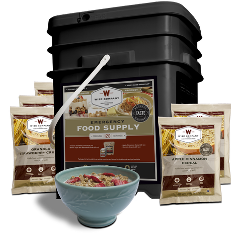 120 Serving Breakfast only - Wise Company Food Supply  (grab n' go bucket)