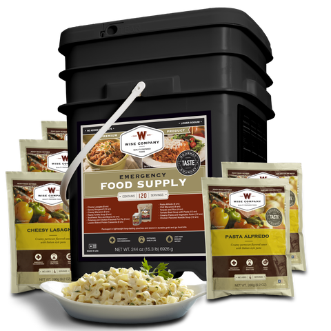 120 Serving Entree only - Wise Company Food Supply  (grab n' go bucket)