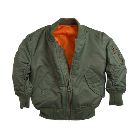 Alpha Industries Boys MA-1 Flight Jacket  (toddler, kids, youth)