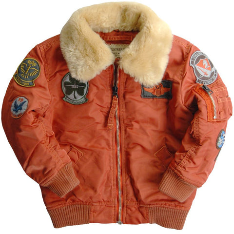Alpha Industries Youth Maverick Flight Jacket (toddler, youth, kids)