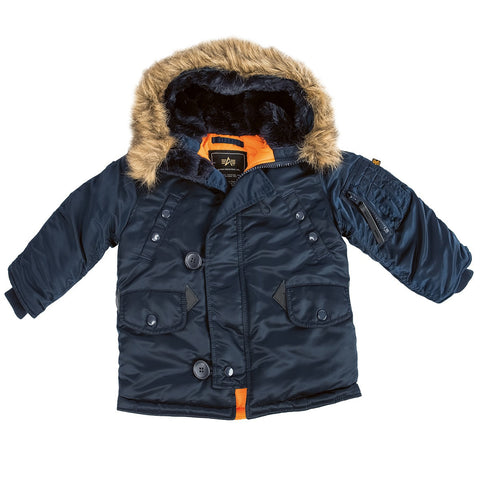 Alpha Industries Youth N-3B Parka Cold Weather Parka (toddler, youth, kids)