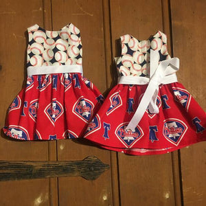 American Girl Doll Philadelphia Phillies Dress Doll Dress - Villavillekula, llc - Philadelphia, PA