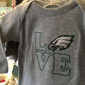 Embroidered LOVE with Eagles Head