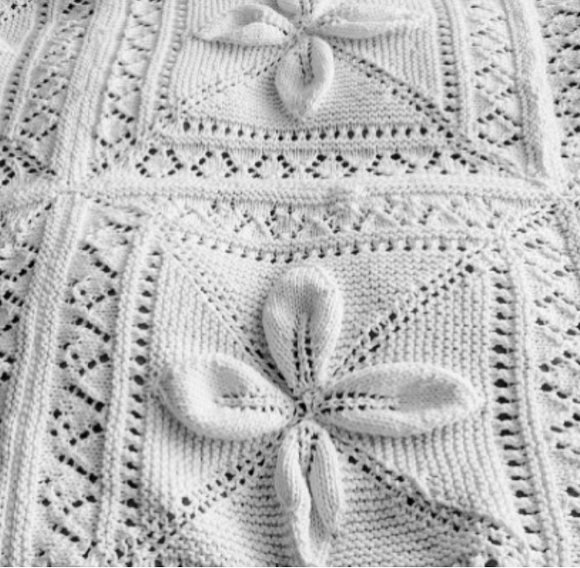 Petals and Lace Blanket
