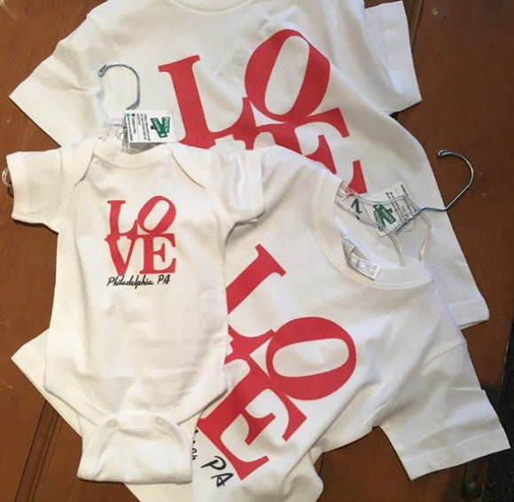 Philadelphia LOVE Onesies and Tees