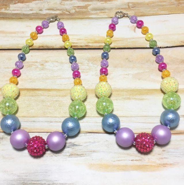 Rainbow Beaded Necklace Necklace - Villavillekula, llc - Philadelphia, PA