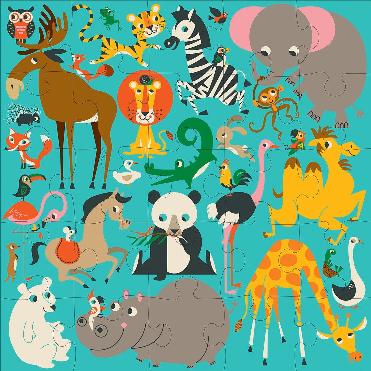 Animals of the World JUMBO puzzle  - Villavillekula, llc - Philadelphia, PA