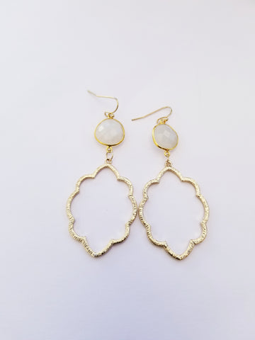 Earrings 14K Gold Filled and Moonstone