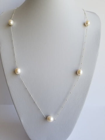 32 Inches Necklace 14K Gold Filled Chain with 12mm Natural  Barroco Pearls