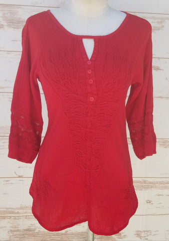 """Bali"" Red blouse"