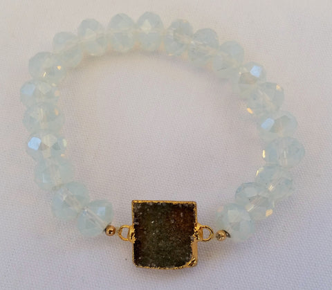 Bracelet Druzy and Crystals