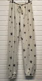 Stars Printed White and Gray Pants