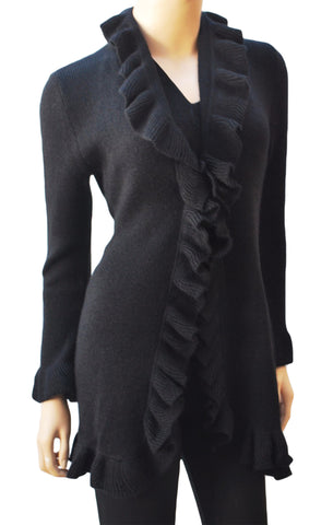 """Royal"" Ruffle Sweater"