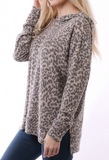 Leopard Top Camel with Hood