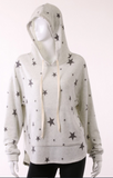 Stars Top Light Gray with Hood