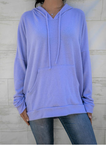 Light Blue Top with Hood