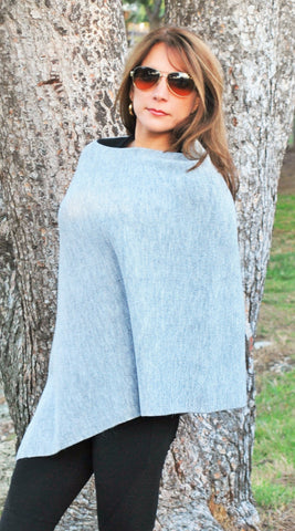 """Olivia"" Asymetrical Lightweight Poncho"