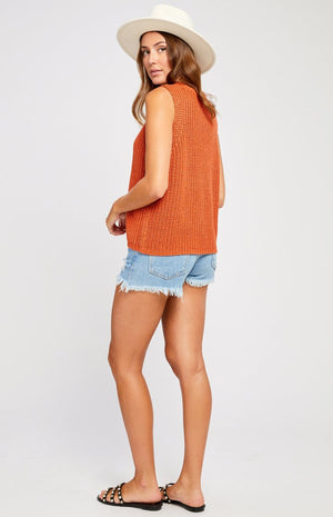 Gentle Fawn Sleeveless Sweater Rust