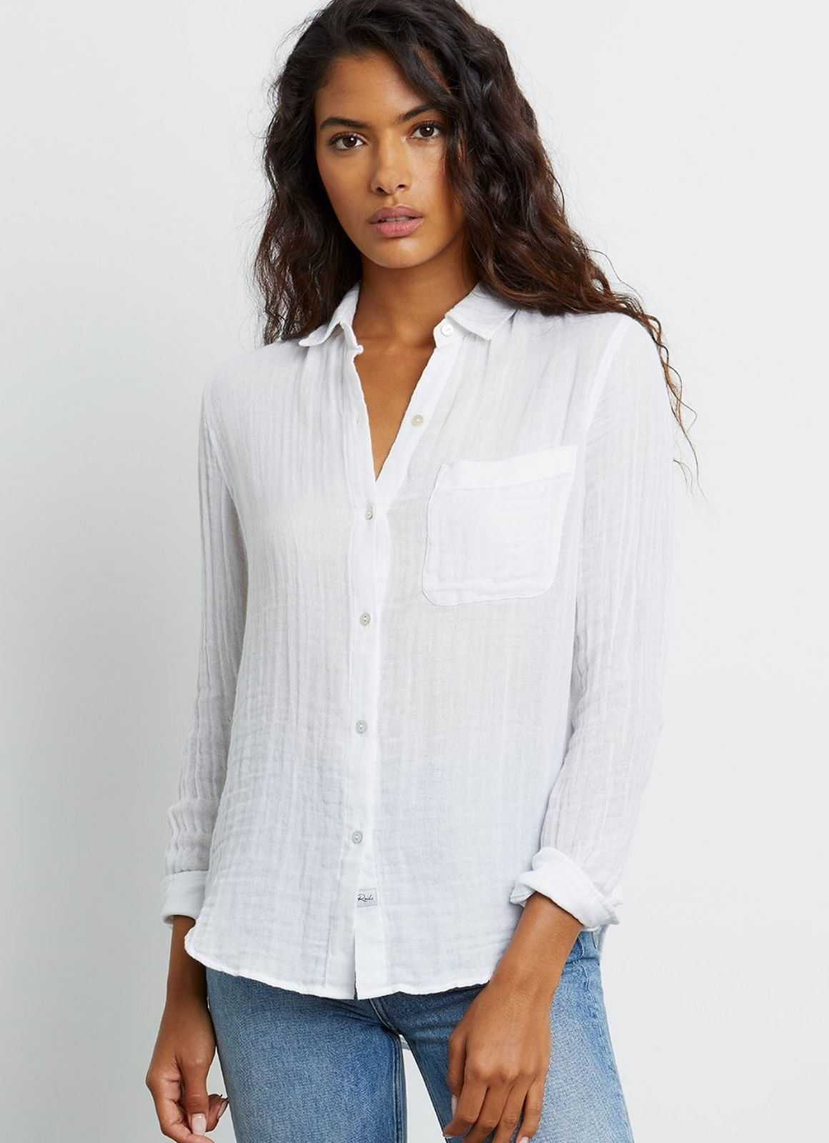 Rails - Ellis Buttondown White