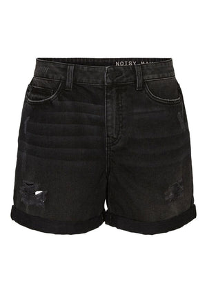 Noisy May - Smiley Distressed Denim Shorts