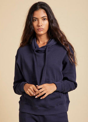 Velvet by Graham & Spencer Jenny Graham Ojai Organic Fleece Hoodie Navy