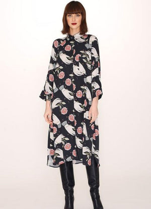 PepaLoves Hands Print Buttoned Dress