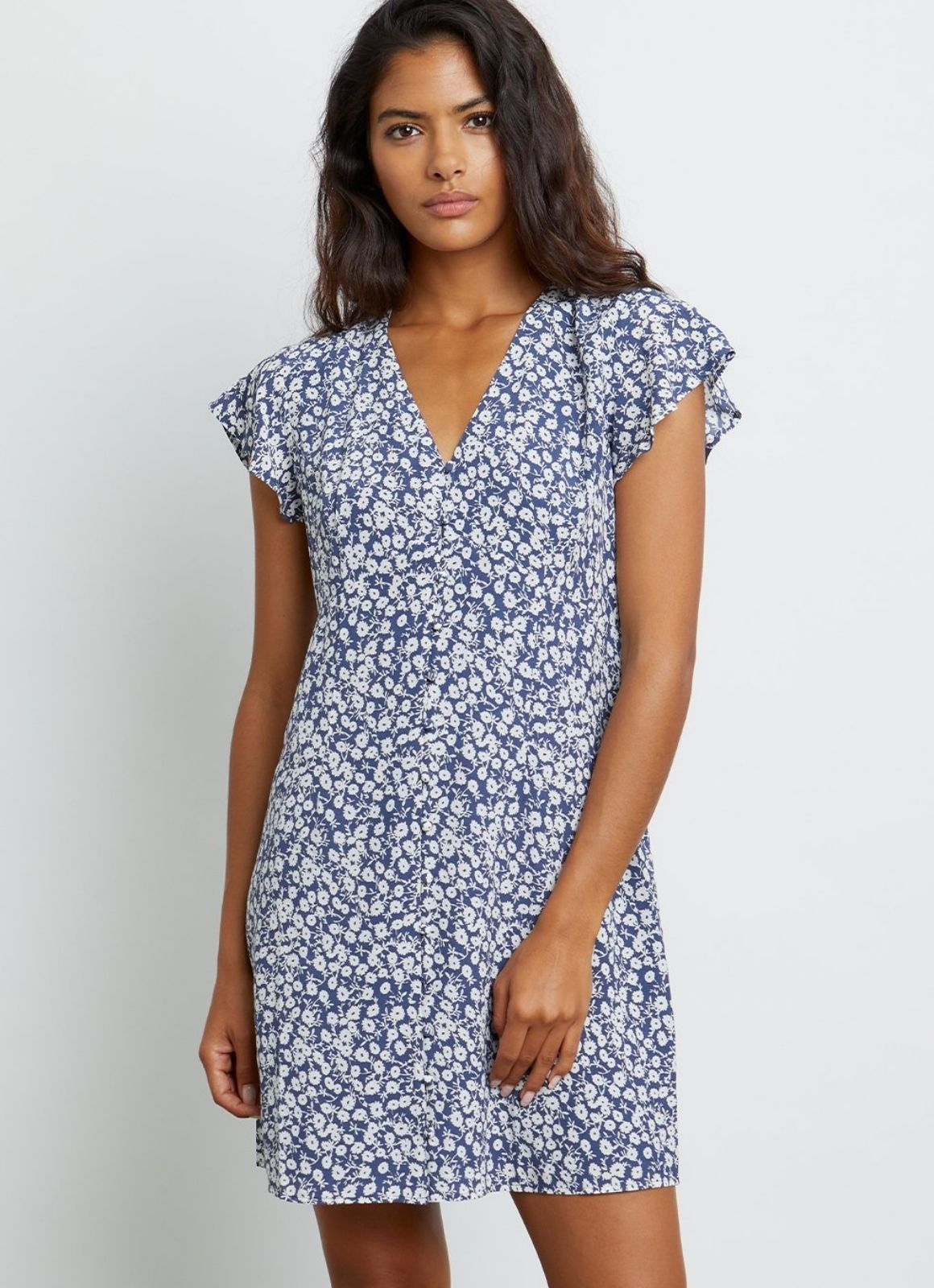 Rails - Helena Dress Navy Camellia