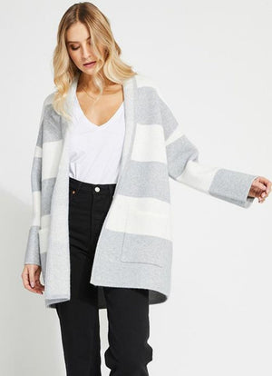 Gentle Fawn - Mallory Cardigan Grey Ash Stripe