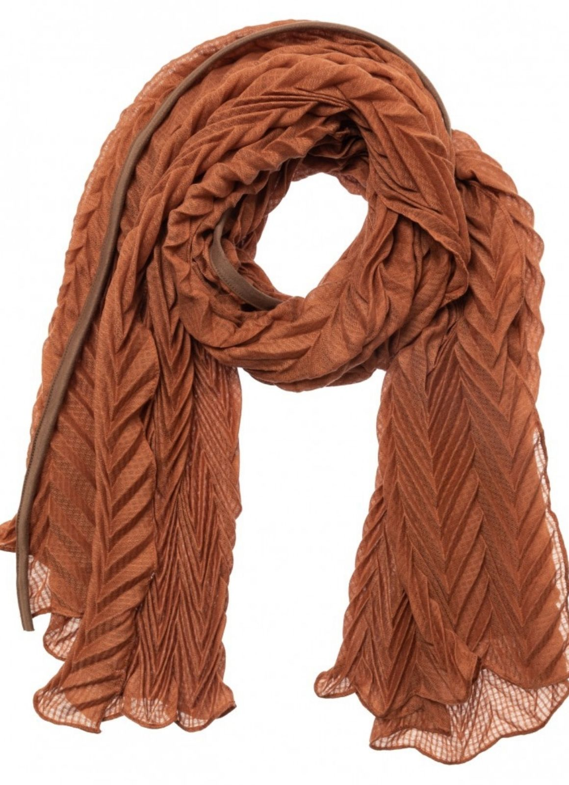 YAYA - Pleated Scarf Rust