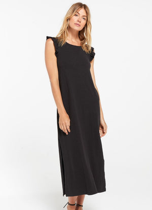 Z Supply - Blakely Slub Ruffle Dress Black