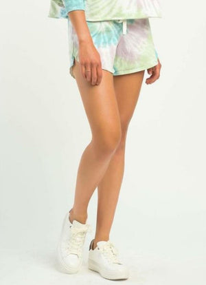 Dex - Multi Pastel Tie Dye Shorts