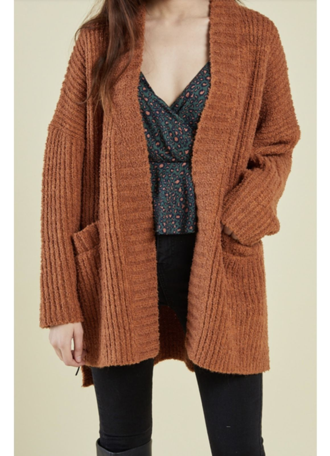 sage the label audrey cardigan amber