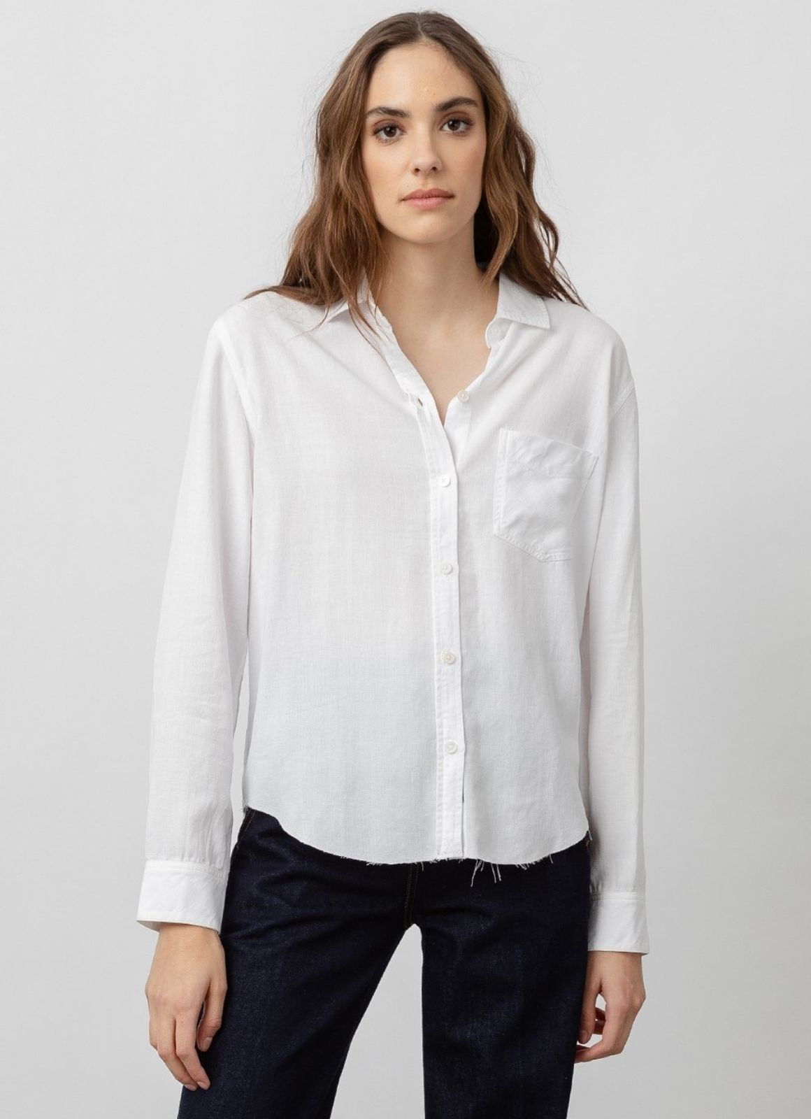 Rails - Ingrid Raw Button Down