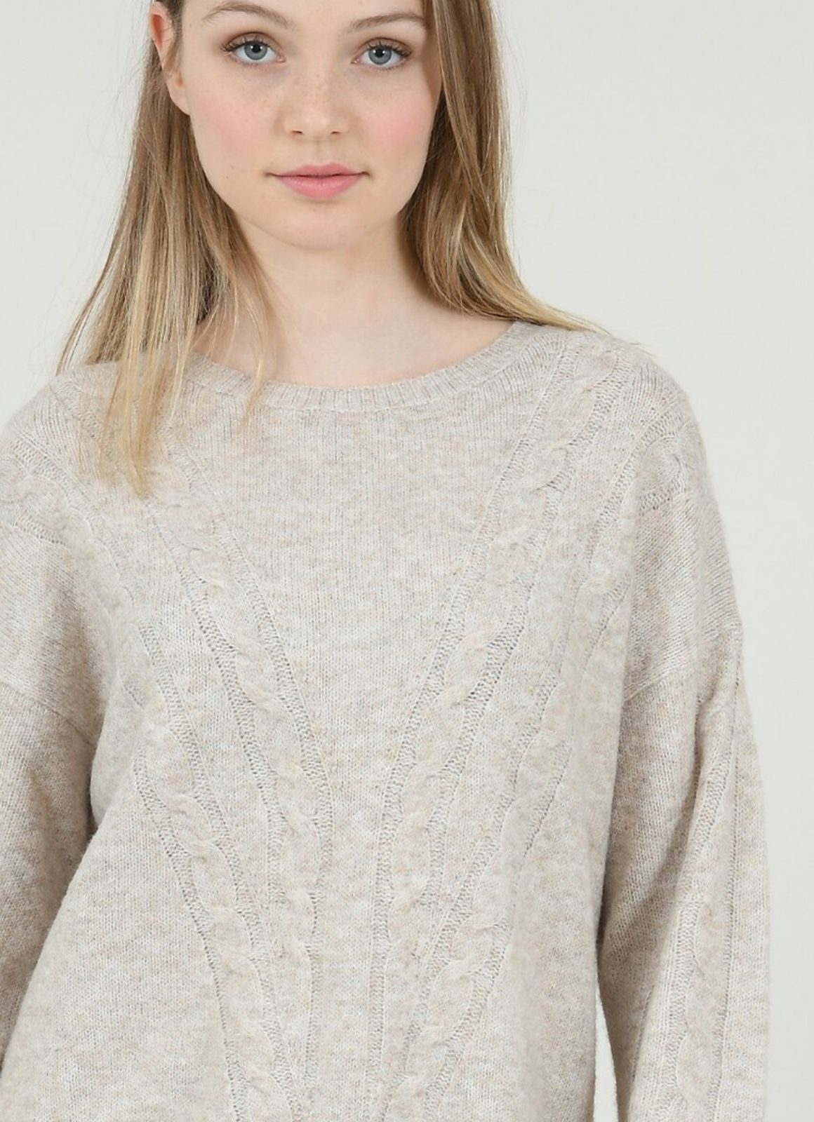 Molly Bracken - Loose Cable Knit Sweater