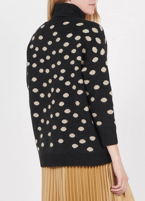 The Korner - Polka Dot Turtleneck Sweater