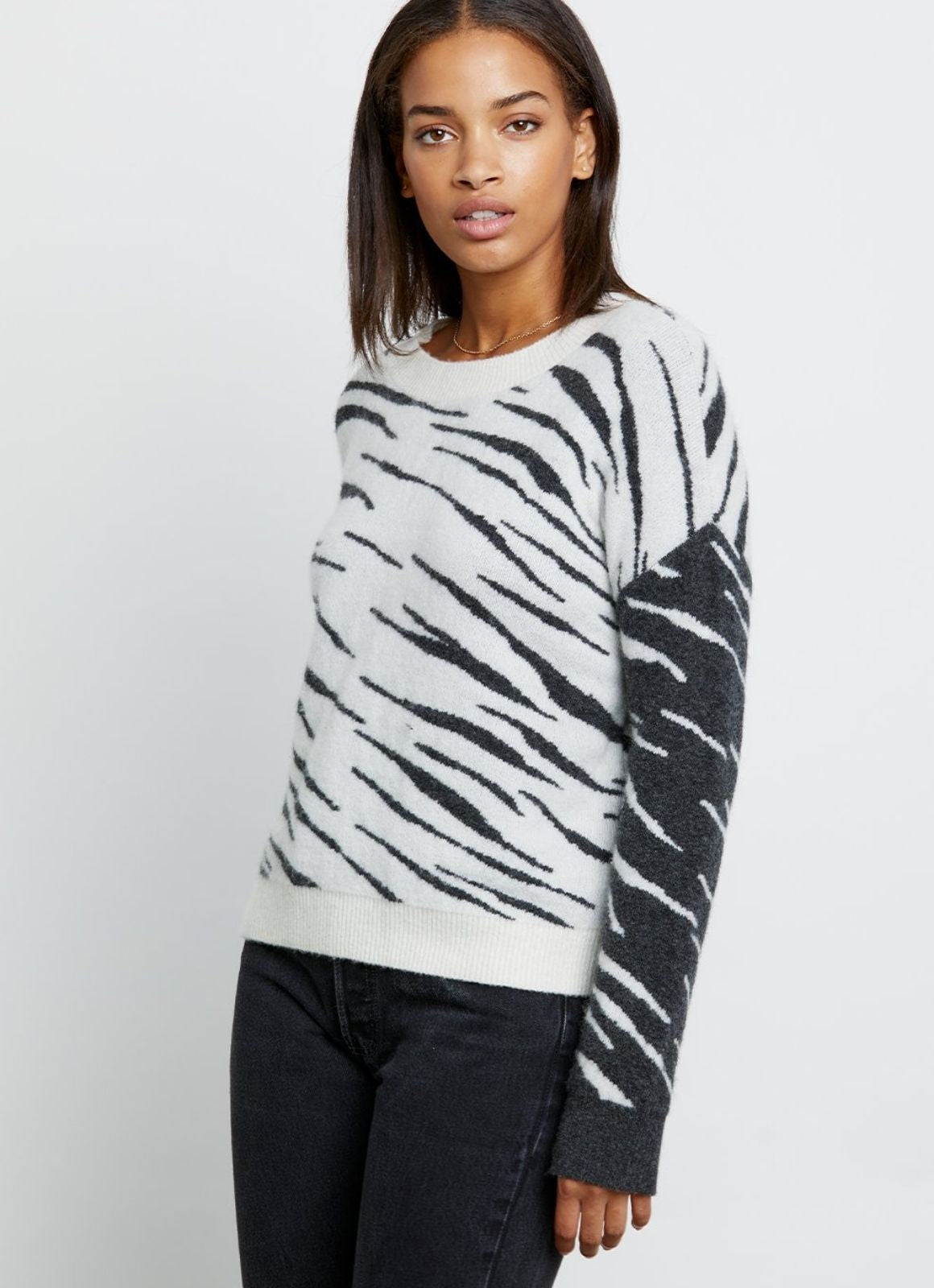 Rails - Lana Sweater Mixed Abstract Tiger
