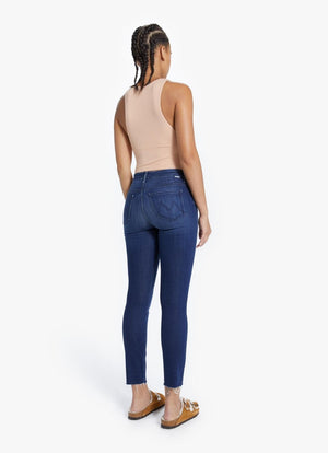 Mother Denim THE HIGH WAISTED LOOKER ANKLE FRAY Tongue In Chic