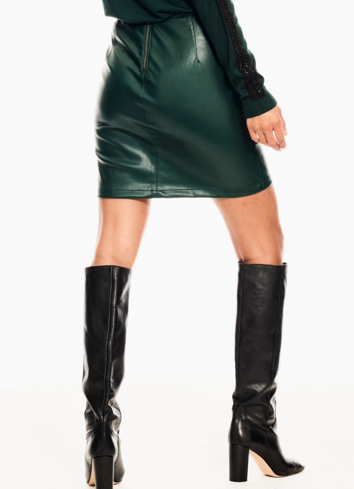 Garcia - Leather-look Pleather Skirt Pine Grove Green