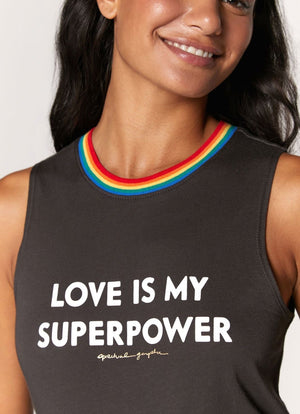 Spiritual Gangster - Love Is My Superpower Muscle Tank