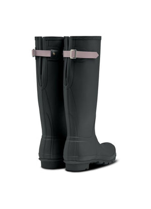 Hunter - Original Tall Back Adjustable Rain Boot Firth Deep Green Atlantis Purple