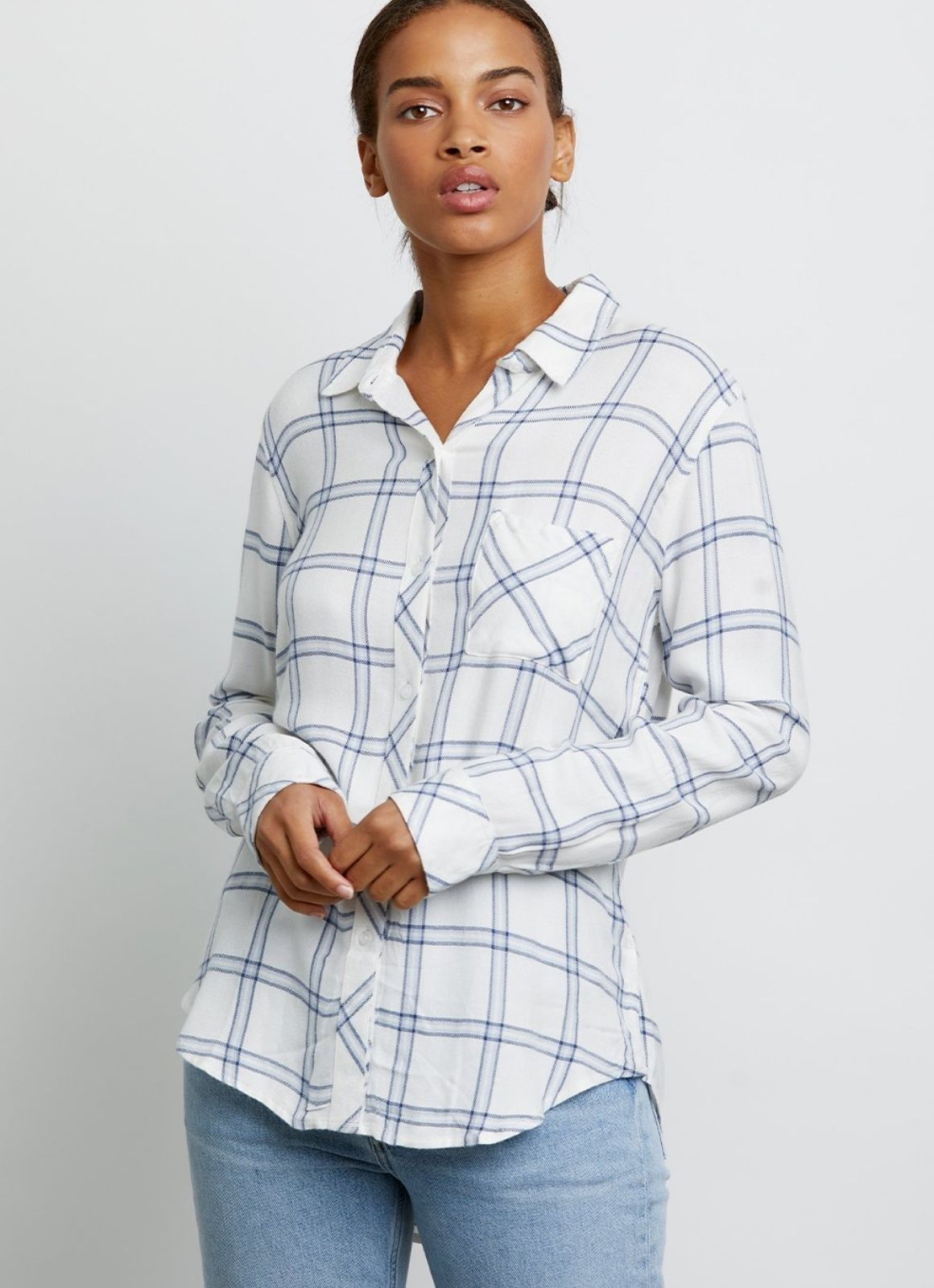 Rails - Hunter Buttondown White Bay Blue