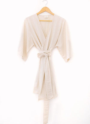 Tofino Towel Co Fresh Robe Beige Stripe