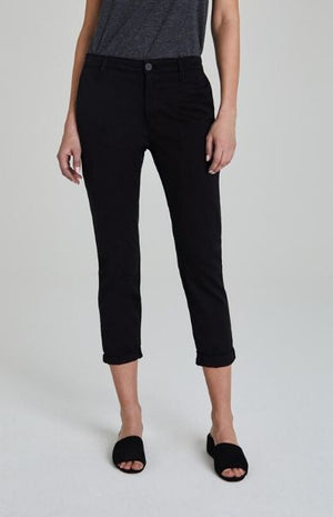 AG JEANS WOMEN'S TWILL CADEN TROUSERS SUPER BLACK