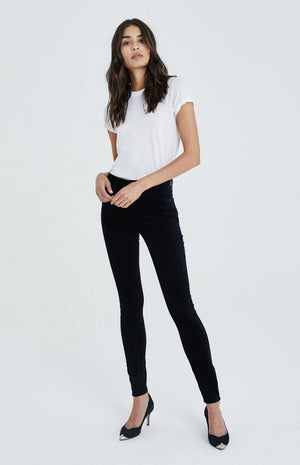 AG Jeans The Farrah Skinny in Super Black